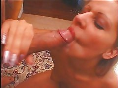 Blonde slut fucked in the ass and mouth - Part II
