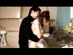 Japanese Girl In Hot Kitchen Sex With Creampie