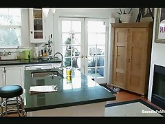 Gay roommates fuck in kitchen