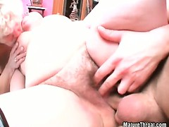 Old slut got banged hardly in her mature pussy