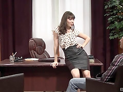 Hot girl Dana Dearmond getting fucked in the office with horny dude