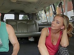 Cute Blonde Gets Her Pussy Fucked in the Back of a Van