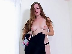 Marina screams as she gets fucked by a black cock