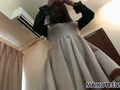Ayame Yashiro loves the way her lover caresses her twat with her vibrator