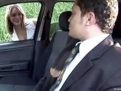 Tranny slut picked up and fucked by a horny businessman