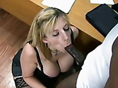 Stacked busty mommy Sara Jay takes on BBC ardently