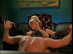 Blonde Brittany Connel juicy pussy refined hardcore in the office