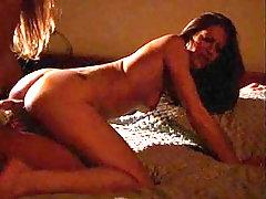 Eva Angelina smashing her lesbian porn babe using strapon