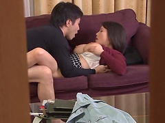 Kaho Shibuya fucked on a sofa by a pussy craving stud
