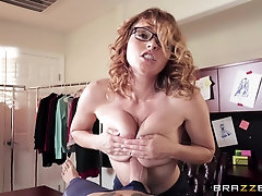 Krissy Lynn seduced and fucked by a stranger at her workplace