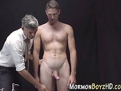 Mormon shoots cum tugging
