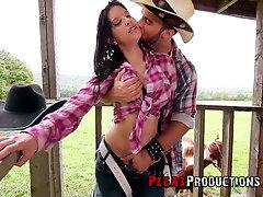 Horny cowboy fucks delicious Canadian babe Amanda Bellucci outdoor