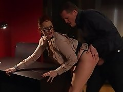 Busty pornstar with nice ass getting screwed hardcore in the office