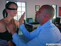 Alex Moore will do anything to make her master's dick pulsate