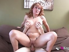 Nuria Milf with big tits banging on massive dick hardcore
