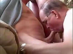 Sexy three old men sucking each other
