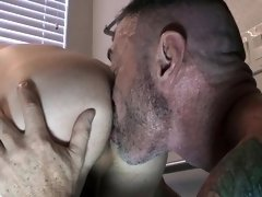 Older stepdad barebacks