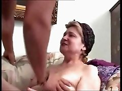 busty granny gets assfucked