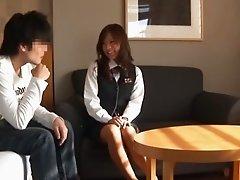 Japanese Office Girl Taken To Hotel & Rogered