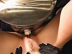 Blonde babe's wet and wild pussy gets slammed in a hard machine bang scene