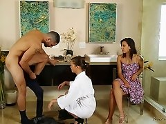 Karter and Sophia seduce a hung stallion and let him nail them