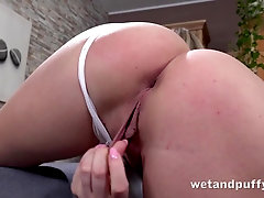 Speculum opens up the cunt of a beautiful blonde