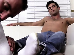 Insolent naked scenes of foot fetish homo porn