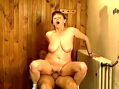 After being fucked missionary Stephanie rides stiff dick on top