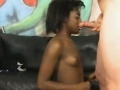 Wild Haired Black Amateur Slut Getting Her Face Plowed