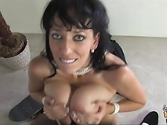 Cougar with natural tits likes to taste banging of big black cock in cuckold action