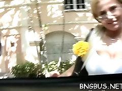 Elegant blonde gf gets hammered