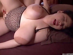 Busty amateur Japanese mature, insane home porn on cam