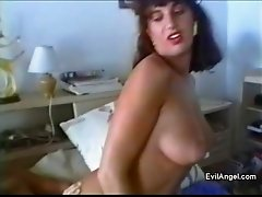 Frisky brunette tramp takes it up her asshole only