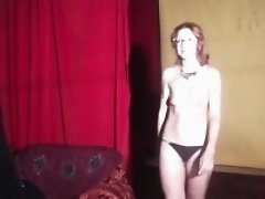 Redhead MILF in backstage video from casting