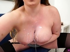 Stunning milf Sophia Delane shows off her captivating big boobs and yummy pussy