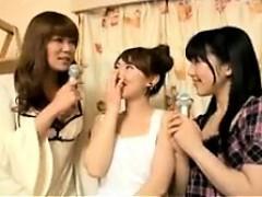 Slutty Oriental girls show off their fabulous cocksucking a