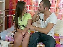Isida the horny brunette teen having sex in her bedroom