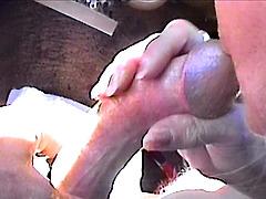 Sandy sucking my cock
