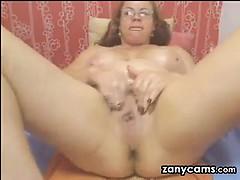Horny Latin Granny Masturbating