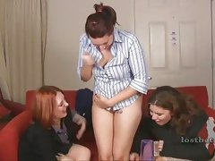 Naughty amateurs playing strip game