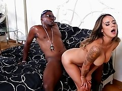 Cuckold watches big black dick fuck his beautiful busty wife