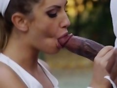 August Ames Fucks Big Black Coach