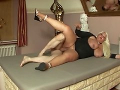 Mature German ladies cave in to a rough group sex in a reality shoot