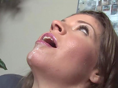 Huge one eyed monster filling a sexy slut in interracial movie