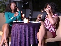 Ebony curvy lesbian babes Misty Stone and Chanell Heart in public