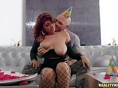 Hardcore food fetish fuck and a titjob with busty Ella Knox