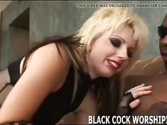 These little BDSM sluts love to worship big black cocks