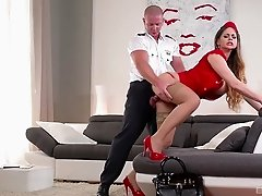 Cathy Heaven cannot resist a lover's huge love tool