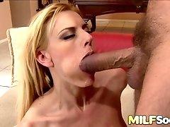 Perfect Cumslut MILF Darryl Hanah Swallows His Load After He Plows Her Ass