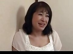 50 yr old mature Agaki Oda loves cock